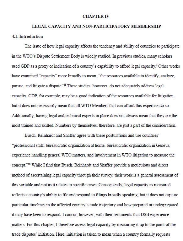 Legal Capacity and Non-Participatory Membership