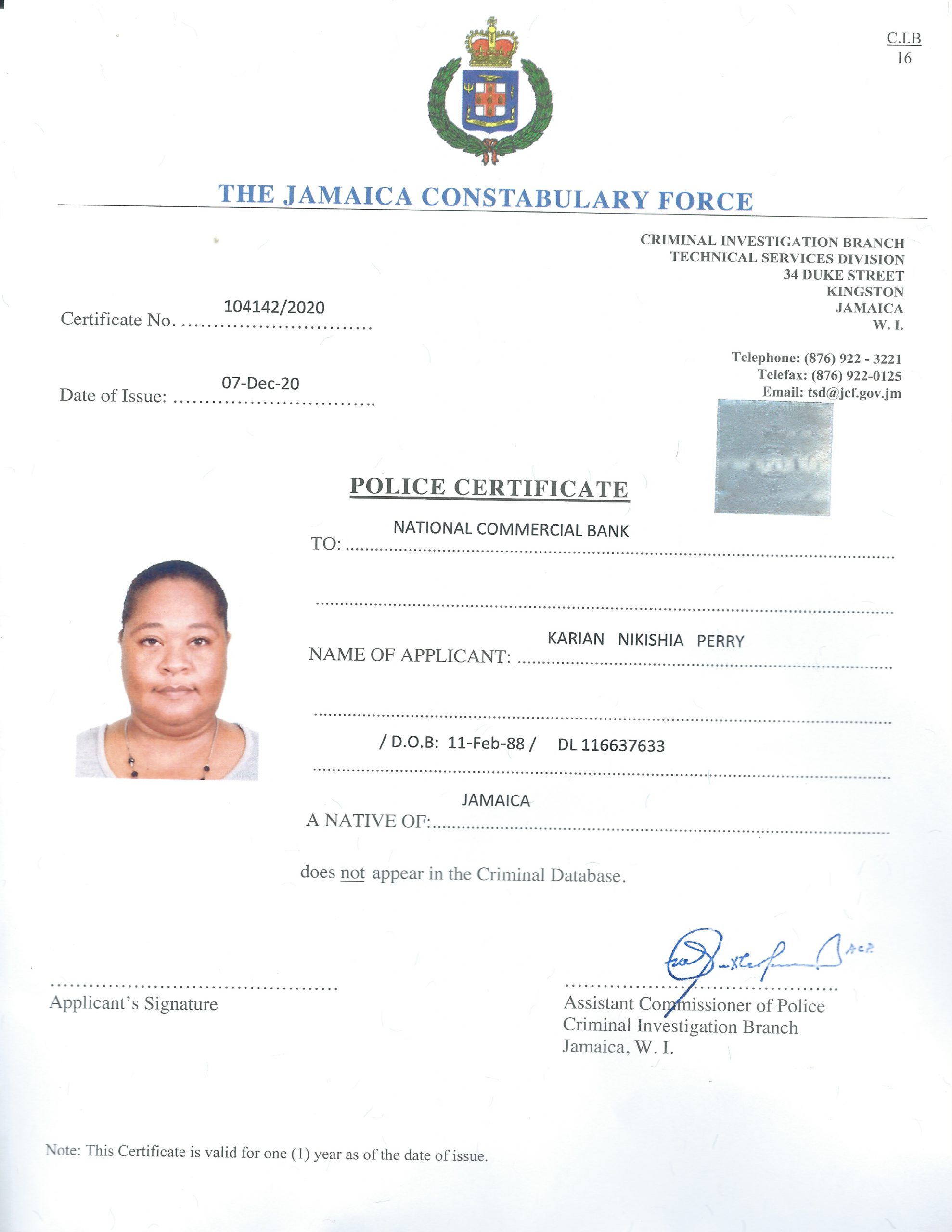 Police Record