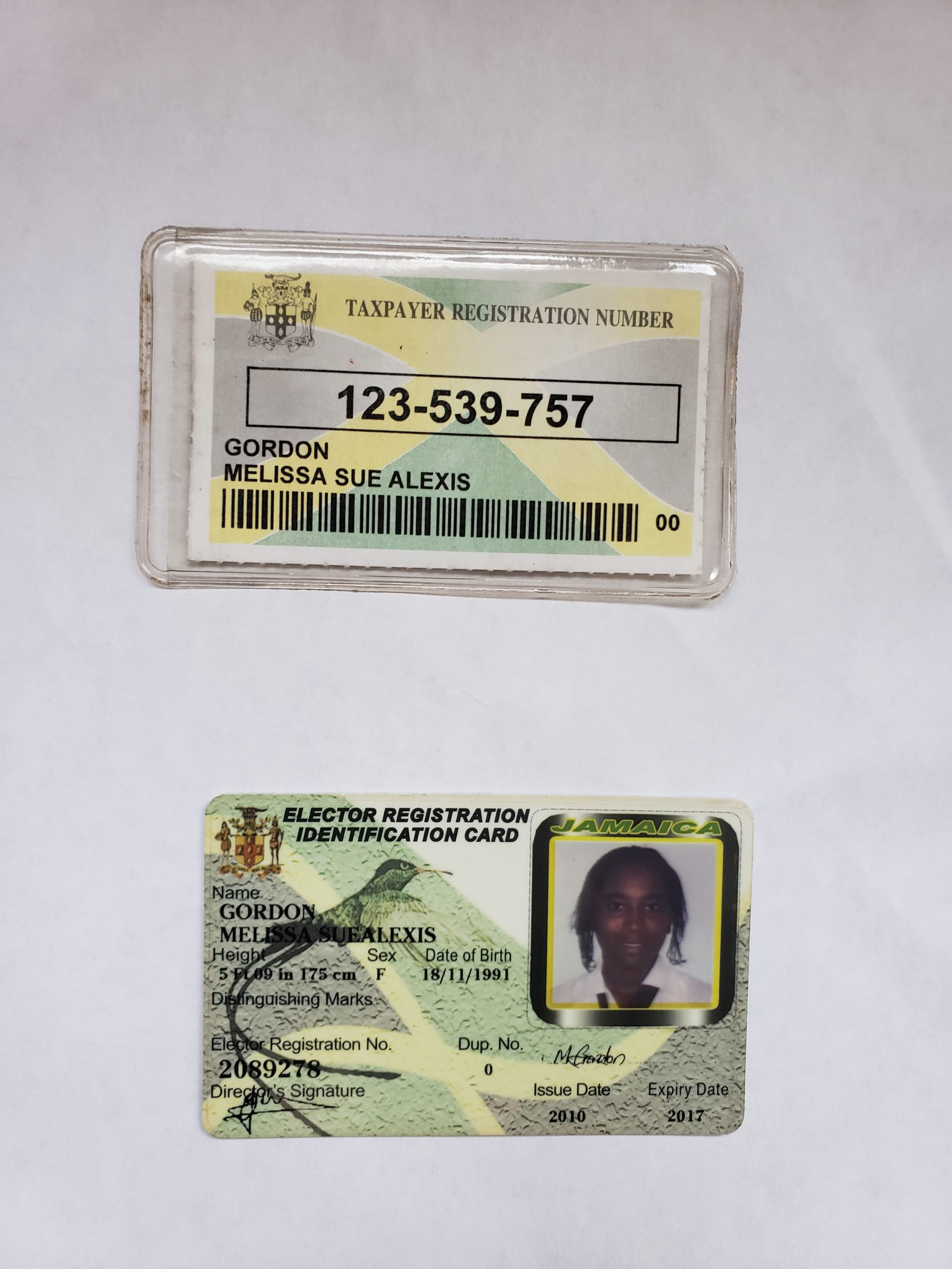 ID, TRN and Police record